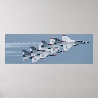 Thunderbirds del U.S.A.F. apilados Póster