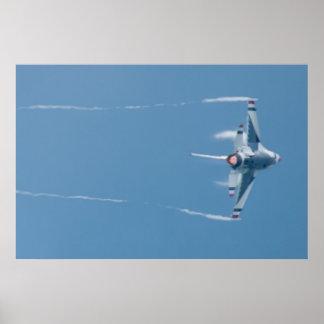 Thunderbirds dispositivo de poscombustión del póster