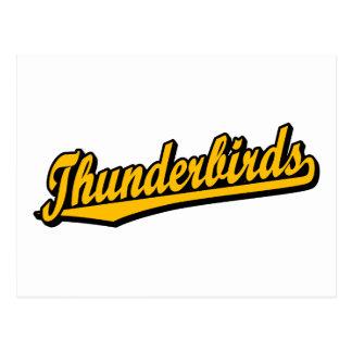 Thunderbirds en naranja tarjetas postales