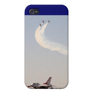 Thunderbirds encima y debajo iPhone 4 carcasa