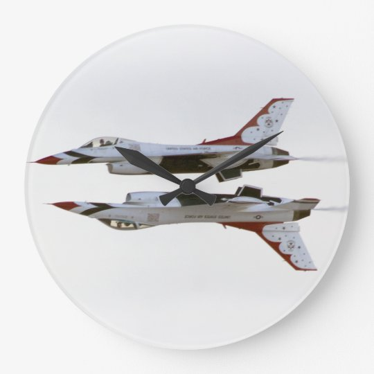 Thunderbirds Maneuver - Mirror Large Clock