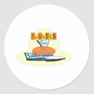 Thunderboats clásico pegatina redonda