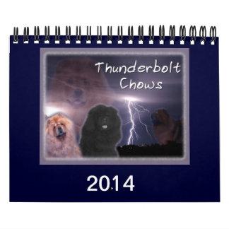 Thunderbolt Chows Calendars