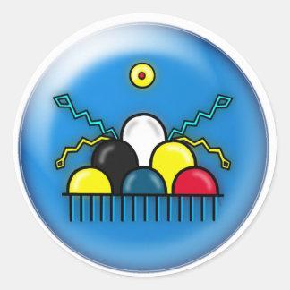 Thundercloud-Blue Classic Round Sticker