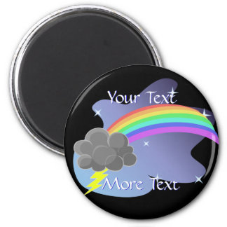 Thundercloud Rainbow 2 Inch Round Magnet