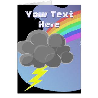 Thundercloud Rainbow Card