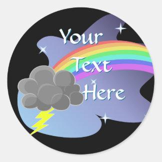 Thundercloud Rainbow Classic Round Sticker