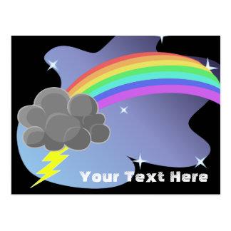 Thundercloud Rainbow Postcard