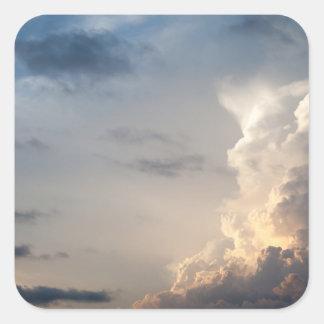 Thunderhead Cloud Heaven Sky Storm Clouds Square Sticker