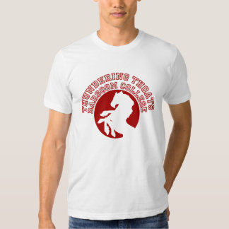 Thundering Thoats Barsoom College T-Shirt
