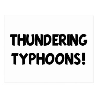 Thundering Typhoons! Postcard