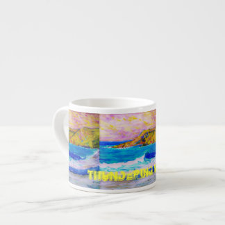 thundering waves Art Espresso Cup