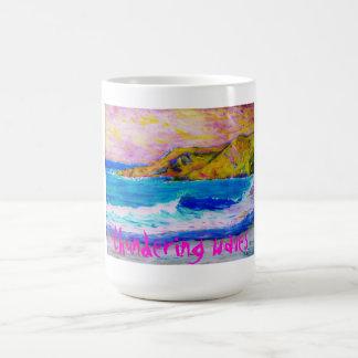 thundering waves coffee mug