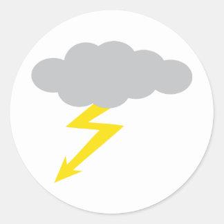 thunderstorm classic round sticker