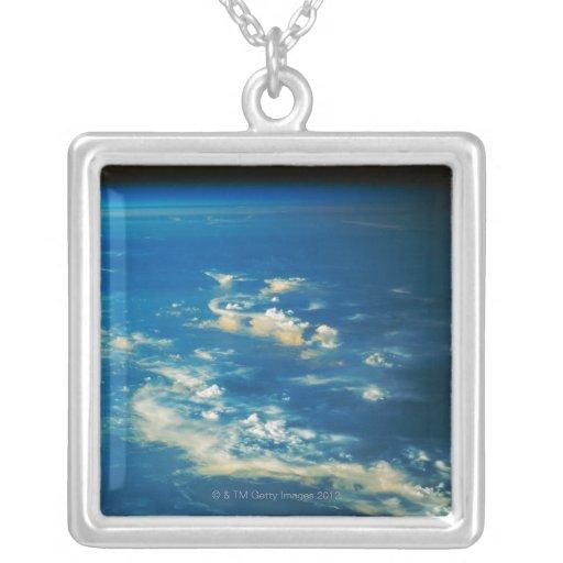 Thunderstorm Clouds Square Pendant Necklace