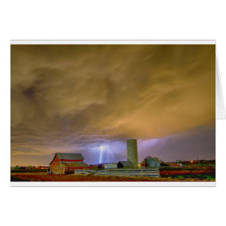 Thunderstorm Hunkering Down On The Farm Card