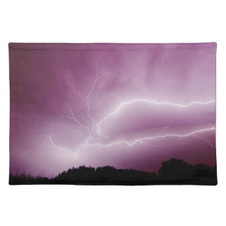 Thunderstorm Lighting viewed from Petit-Croix Placemat