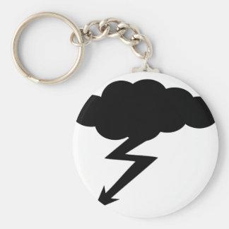 thunderstorm lightning keychain