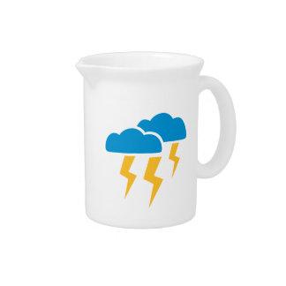 Thunderstorm lightning pitcher