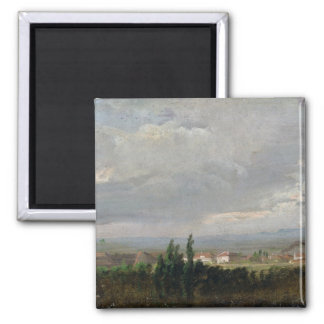 Thunderstorm Near Dresden, 1830 2 Inch Square Magnet