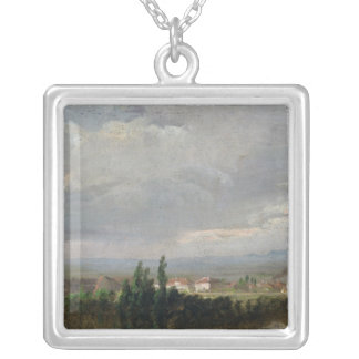 Thunderstorm Near Dresden, 1830 Silver Plated Necklace