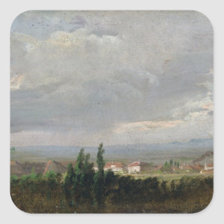 Thunderstorm Near Dresden, 1830 Square Stickers