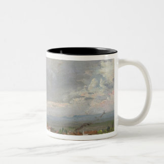 Thunderstorm Near Dresden, 1830 Two-Tone Coffee Mug