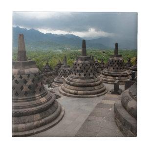 Thunderstorm over Borobudur Ceramic Tile