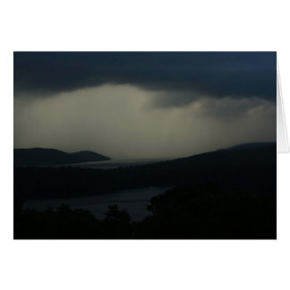 Thunderstorm over Quabbin Reservoir Card