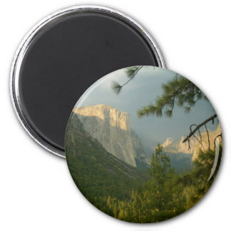 Thunderstorm over Yosemite Valley 2 Inch Round Magnet
