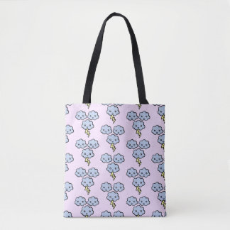 Thunderstorm Pattern Tote Bag