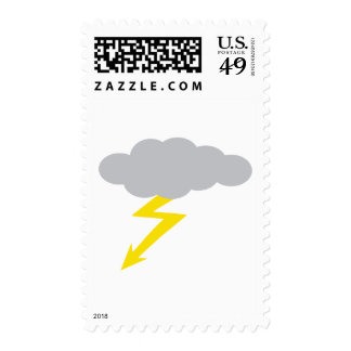 thunderstorm postage stamp
