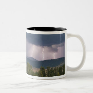 Thunderstorm produced lightning in the Jocko Two-Tone Coffee Mug