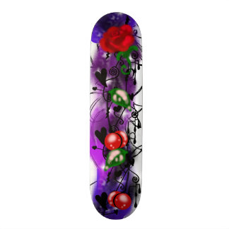 Thunderstorm Rose Graffiti Skateboard