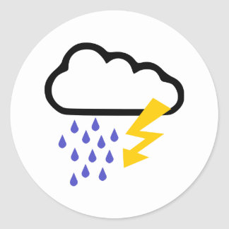 Thunderstorm - Weather Classic Round Sticker