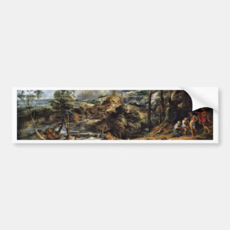 Thunderstorms Landscape With Philemon And Baucis Car Bumper Sticker