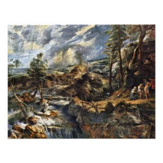 Thunderstorms Landscape With Philemon And Baucis Announcement