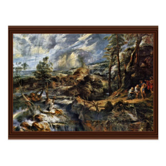 Thunderstorms Landscape With Philemon And Baucis Post Cards