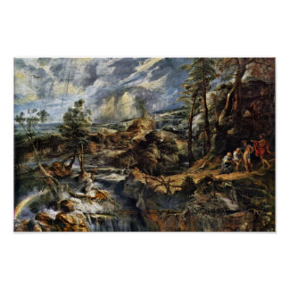 Thunderstorms Landscape With Philemon And Baucis Posters
