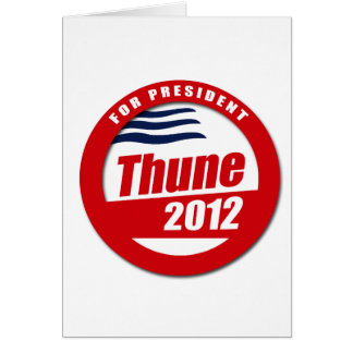 Thune 2012 button greeting card