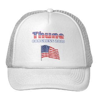 Thune Patriotic American Flag 2010 Elections Mesh Hats
