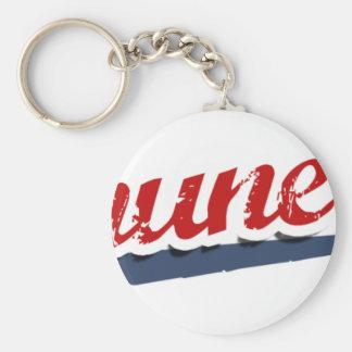 Thune Team Basic Round Button Keychain