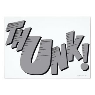 """¡THUNK! INVITACIÓN 5"""" X 7"""""""