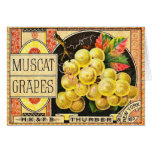 Thurber Muscat Grapes - Vintage Crate Label Card