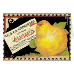 Thurber Pears - Vintage Fruit Crate Label Card