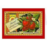 Thurber Strawberries Vintage Crate Label