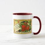Thurber Strawberries Vintage Crate Label Mug