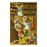 Thurbers ~ Fruit Preserves and Jellies. Poster