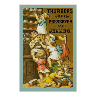 Thurbers ~ Fruit Preserves and Jellies ~ Vintage Poster