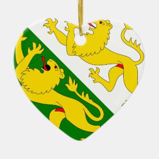 Thurgau, Switzerland flag Ornaments